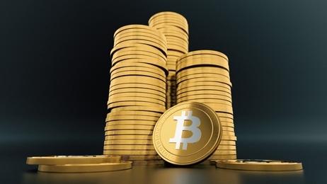 กองเหรียญ Bitcoin