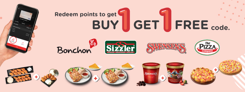 Redeem points to get great value. Buy 1 Get 1 Free code with KTC credit card.