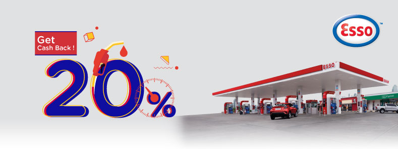 Fill your tank with KTC Credit Card at Esso Station: Get 20% Cash Back!