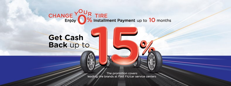 HOT DEAL! Change tire with KTC Credit Card | From over 1,000 Leading Tire Brands and Fast Fit/Car Service Center nationwide