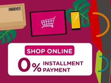 Shop online 0% installment payment with KTC Credit Card