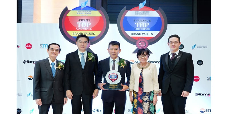 Thailand's Top Corporate Brand Value 2018