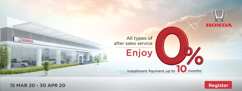 KTC Promotion | Enjoy 0% Installment Payment up to 10 months + Get 10% Cash Back, Earn X5 KTC FOREVER points at Honda Service Center