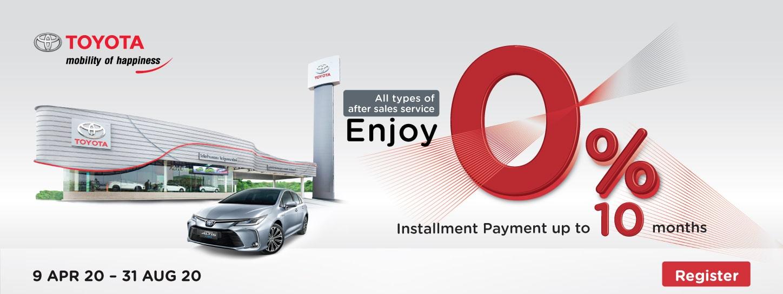 KTC Promotion | Enjoy 0% Installment Payment + Get 10% Cash Back, Earn X5 KTC FOREVER points at Toyota service centers