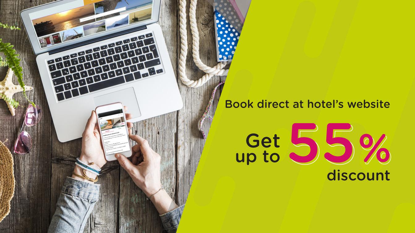 จองห้องพักตรงผ่านเว็บไซต์โรงแรมรับส่วนลดสูงสุด 40% (Book direct at hotel's website with KTC credit card)