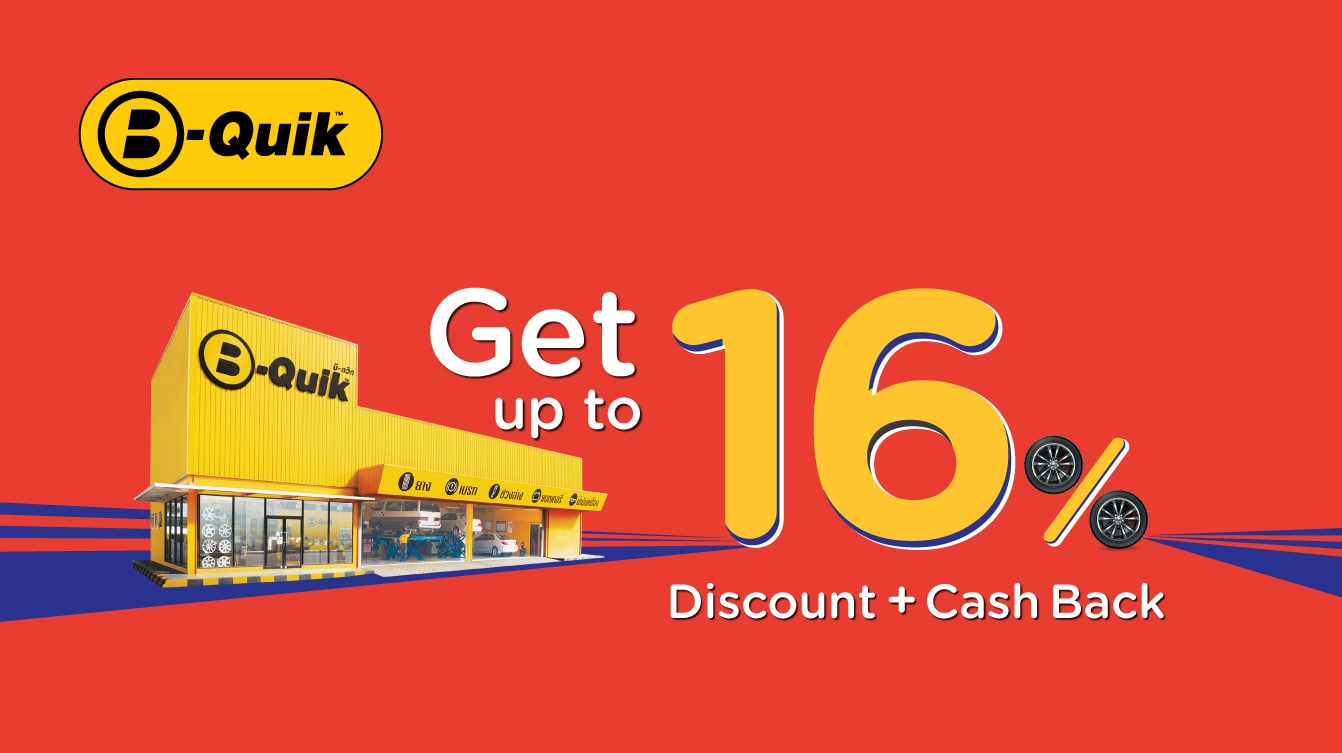 KTC Credit Card promotion! Enjoy 0% Installment Payment + Get up to 16% Discount+Cash Back at B-QUIK