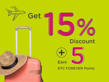 KTC World Travel Service Get 15 percent discount